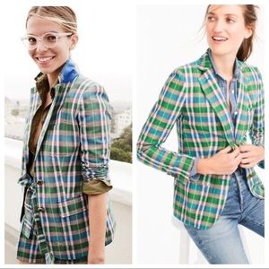J. Crew Rhodes Blazer In Vintage Plaid 12